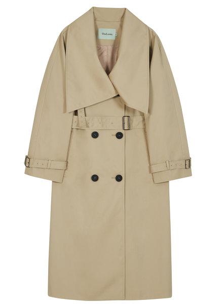 The Loom Lowneck Trench coat - Light Beige