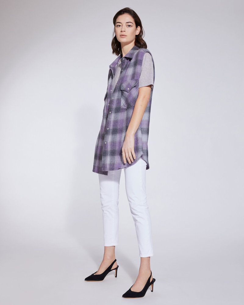 Iro Done shirt - Purple/Grey