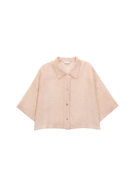 Le 17 Septembre Collar Crop Shirt - Light Orange