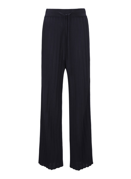 Le 17 Septembre Ribbed Knit Pants - Navy