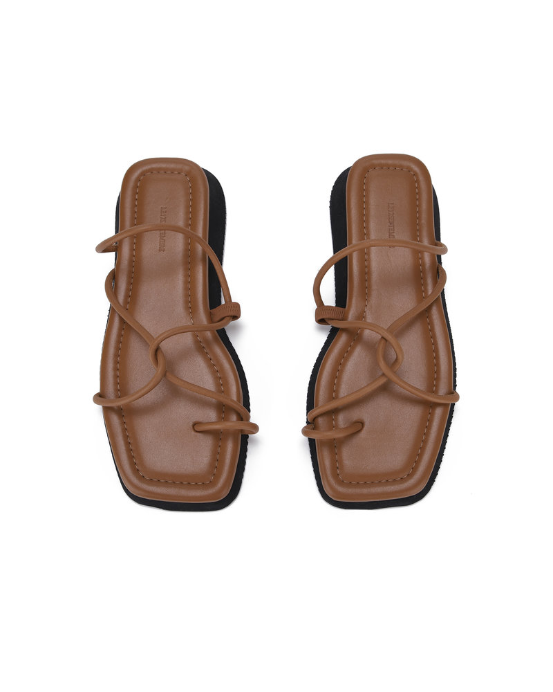 Le 17 Septembre Toe-Ring Leather sandal - Brown