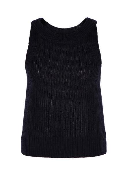 Le 17 Septembre Halterneck sleeveless knit top - Navy