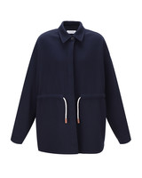 Le 17 Septembre Waist string Linen Jacket - Navy