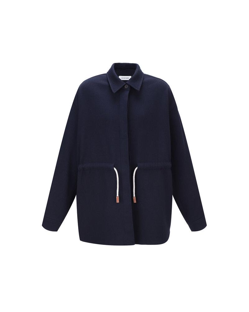Le 17 Septembre Waist string Linen Jacket - Navy