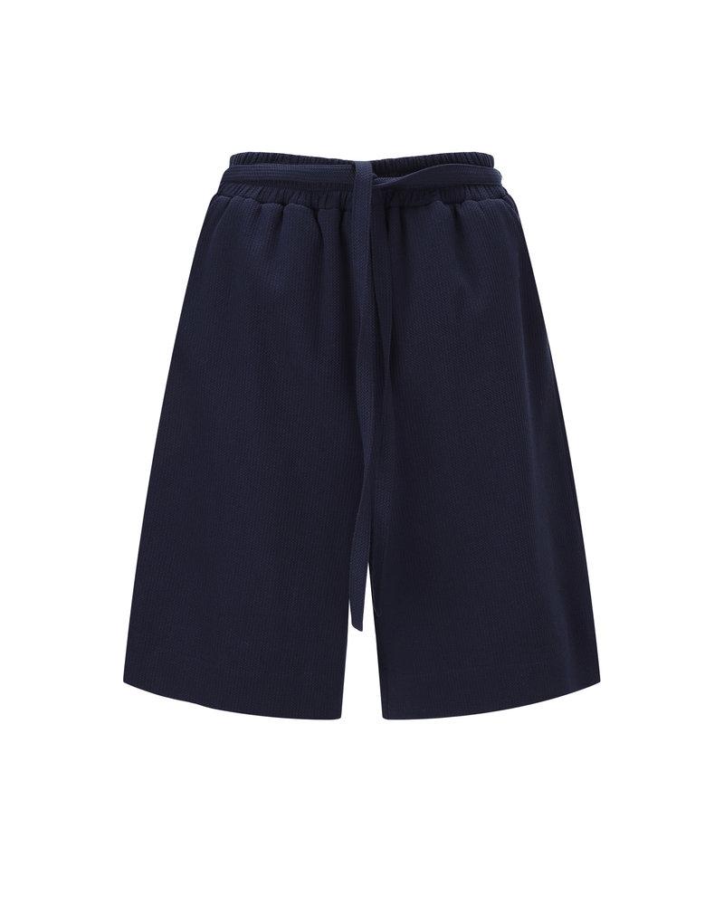 Le 17 Septembre Linen easy short Pants - Navy