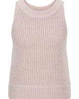 Le 17 Septembre Halterneck sleeveless knit top - Beige
