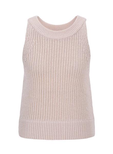 Le 17 Septembre Halterneck sleeveless knit top - Beige
