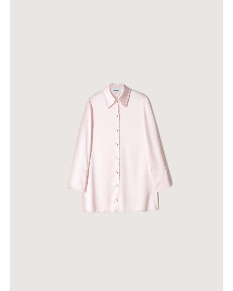 Nanushka Gabi shirt - Rosewater