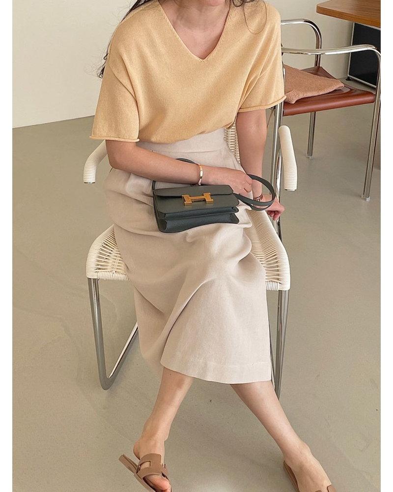 Bowen Loose knit top - Yellow