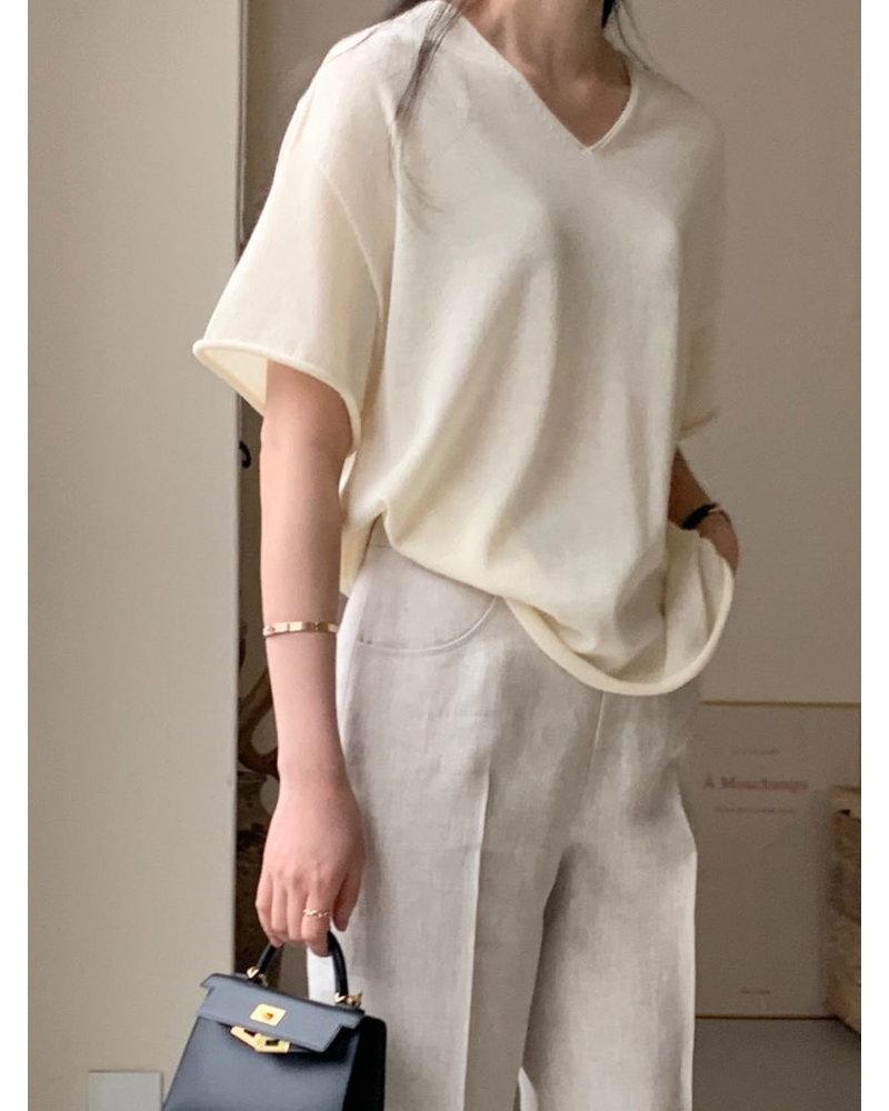 Bowen Loose knit top - Ivory