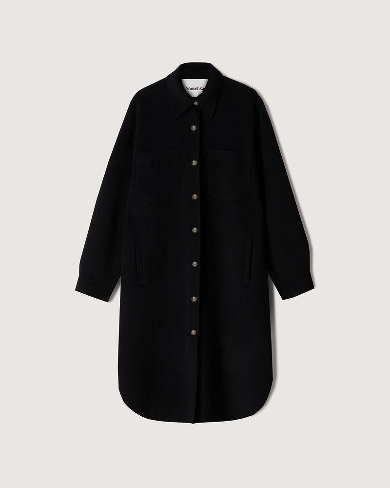 Nanushka Cruza coat - Black
