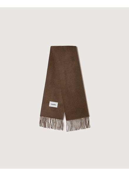 Nanushka Sidell scarf - Rust grey