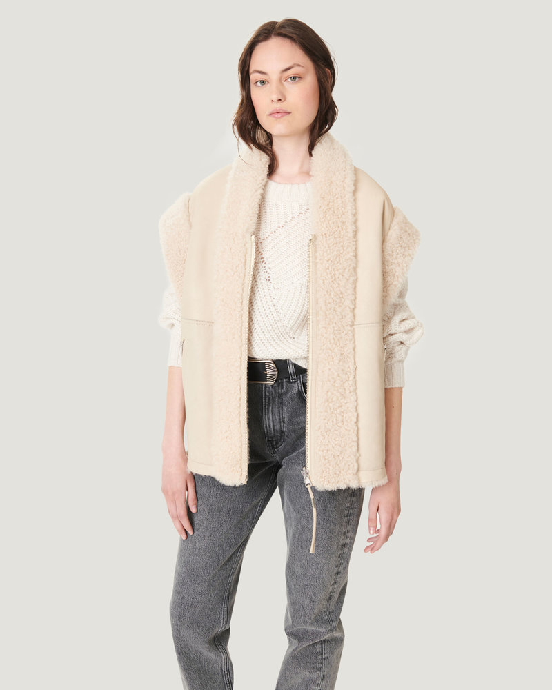 Iro Iyo shearling jacket - Natural