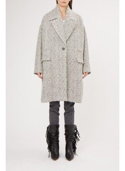 Iro Cares coat - Black/White