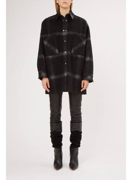 Iro Heldens coat - Black/Grey