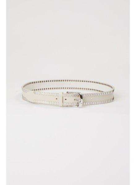 Iro Bhaki belt - White