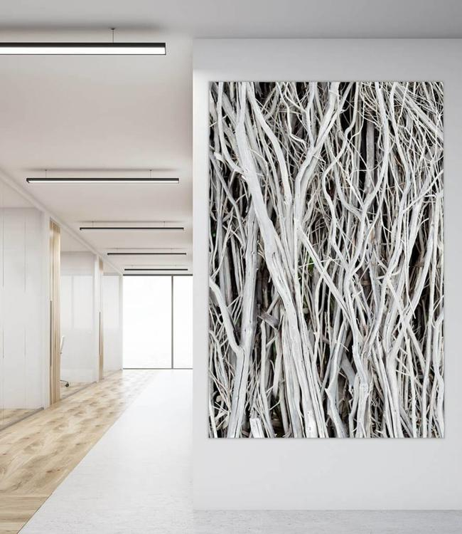 "Sound absorbing panel ""White Branches """