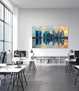 "Sound absorbing panel ""Skyline Sunset"""