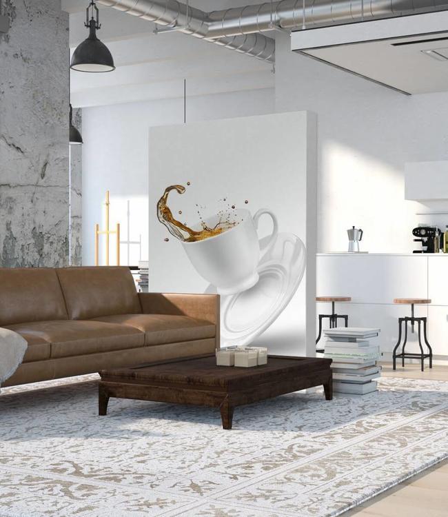 "Schallabsorber Trennwand - Raumteiler ""Coffee to go"""