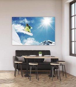 Akustikbild Snowboarder