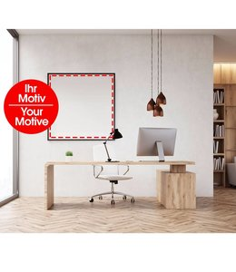 Sound absorbing panel with individual motive Sound absorber class B!