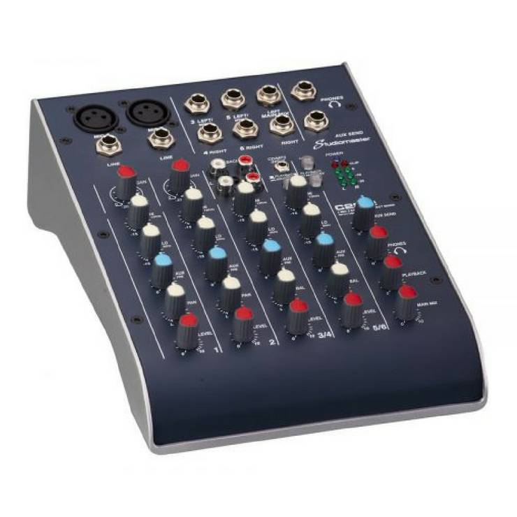 Studiomaster C2S-2  6 channel mixer (2 mono + 2 stereo) USB interface