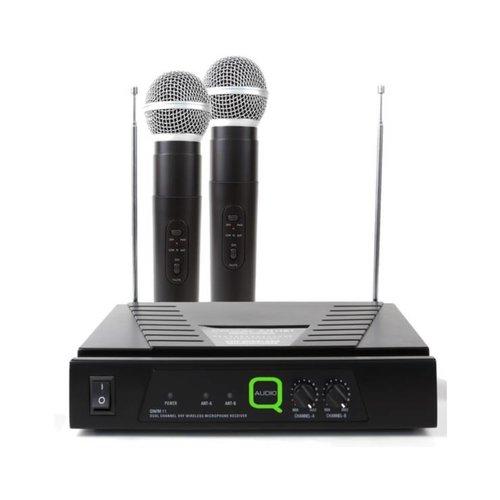 Q Mic QWM 11 HH   1.74/174.5 MHz Hand held radio mics dual system