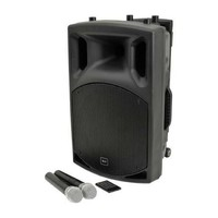 QX12 PA  PORTABLE PA SYSTEM with bluetooth and 2 radio microphones