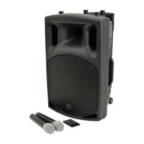 qtx QX12 PA  PORTABLE PA SYSTEM with bluetooth and 2 radio microphones