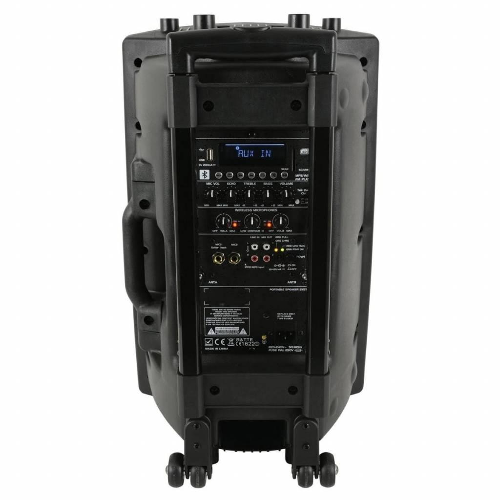 qtx QX12PA plus Portable PA with UHF, USB/SD/FM & Bluetooth®
