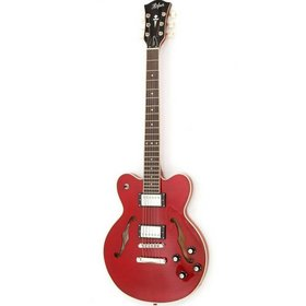 Hofner Hofner Verythin Deluxe Trans Red