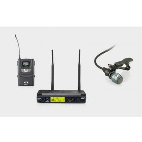 JTS IN164 UHF PLL Single Channel Diversity Lapel Wireless Microphone System
