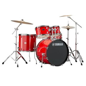 "Yamaha Yamaha Rydeen 22"" Drum Kit with Cymbals Red Sparkle"