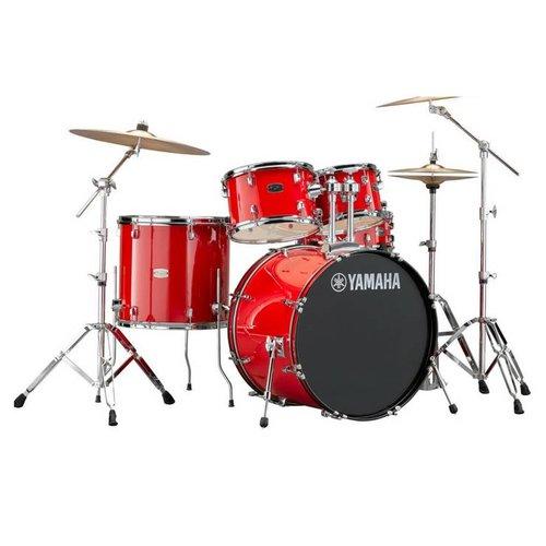 """Yamaha Yamaha Rydeen 22"""" Drum Kit with Cymbals Red Sparkle"""