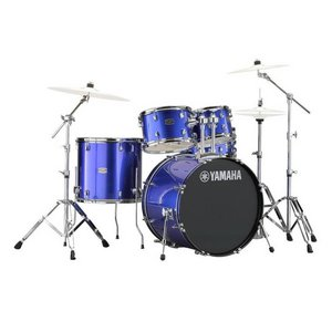 "Yamaha Rydeen RDP0F5 Drum set with 20"" bass, cymbal and stands-Fine Blue"