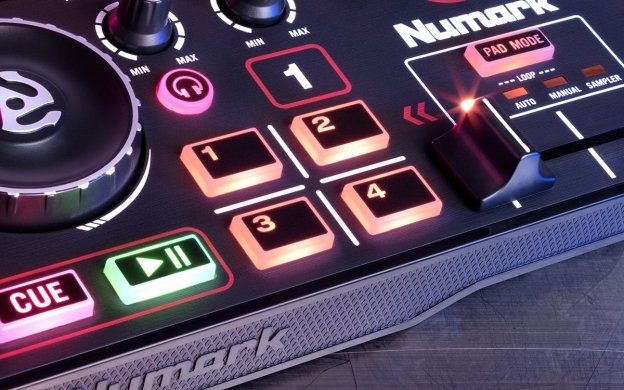 Numark DJ2GO2 Mini DJ Controller with Audio