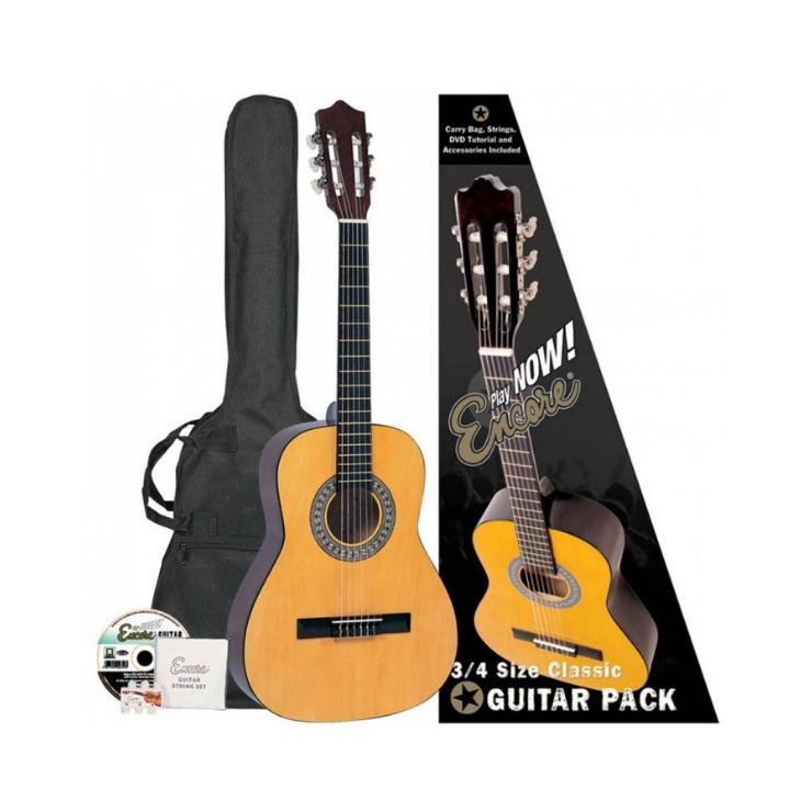 ENCORE Encore 3/4 Classical Guitar Pack