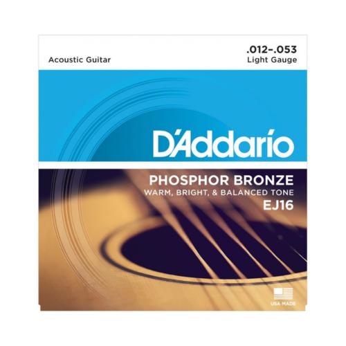 D'addario D'Addario EJ16 Phosphor Bronze Strings Light 12-53 Set