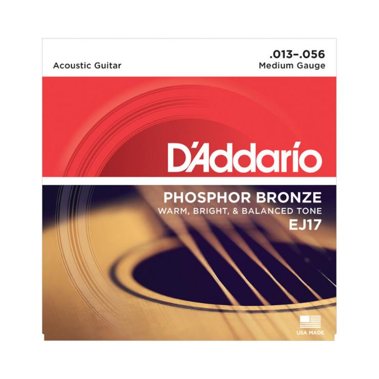 D'addario D'addario EJ17 Phosphor Bronze Strings Medium 13-56 Set