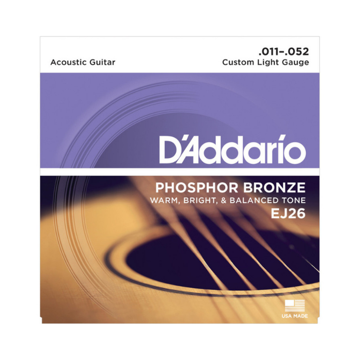 D'addario D'addario EJ26 Phosphor Bronze Strings Custom Light 11-52 Set