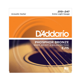 D'addario D'addario EJ15 Phosphor Bronze Strings Extra Light 10-47 Set