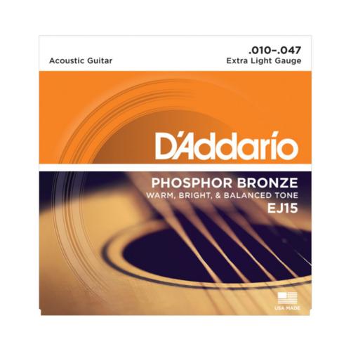 D'addario D'addario EJ15 Phosphor Bronze Strings Extra Light 10-47 Set