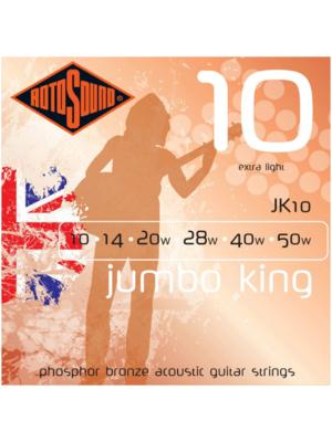 Rotosound Rotosound Jumbo King JK10 Extra Light 10-50 Phosphor Bronze Acoustic Guitar Strings