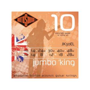 Rotosound Rotosound Jumbo King 12-String JK30EL Extra Light 10-48 Phosphor Bronze Guitar Strings