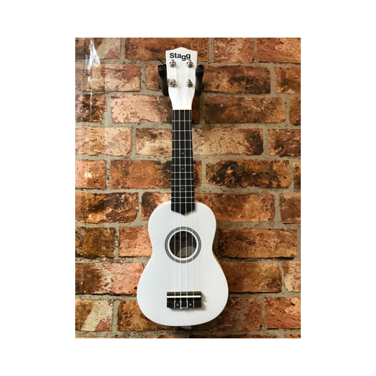Stagg Stagg Soprano Ukelele With Bag (White)