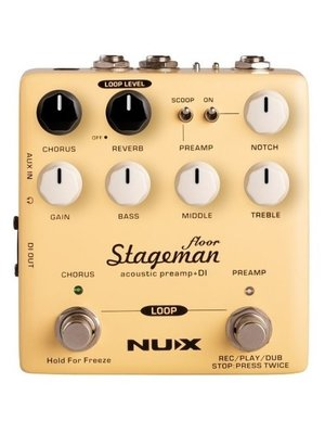 NUX NUX Stageman Floor Acoustic Preamp DI Pedal