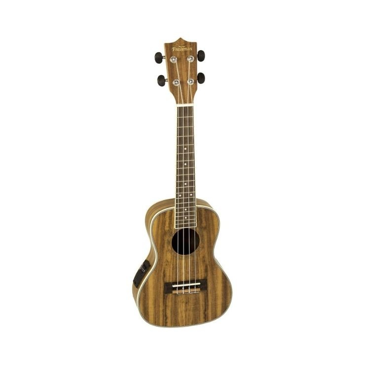 Freshman Koa Satin Concert Ukelele With EQ And Bag