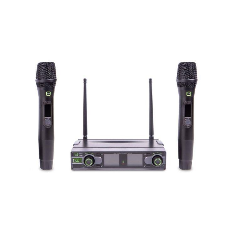 Q Mic Q Audio QWM1950HH Dual Hand Held Wireless System