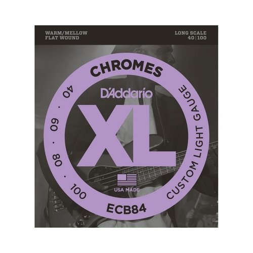 D'addario D'addario ECB84 Bass Chrome 40-100