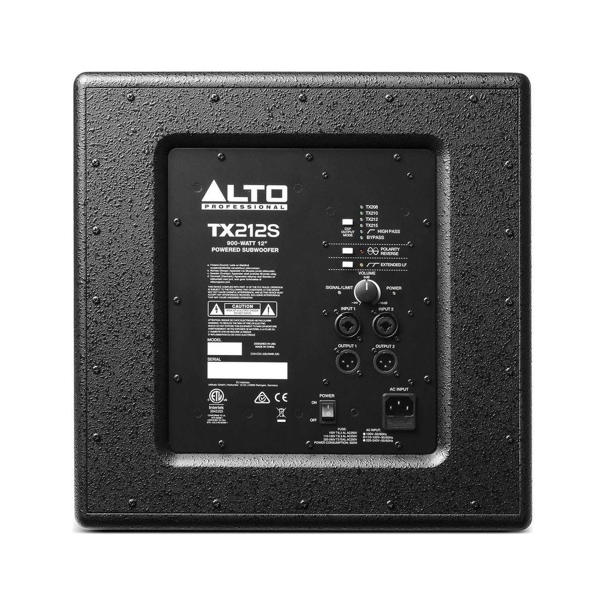 ALTO Alto TX212S Active Subwoofer 900W